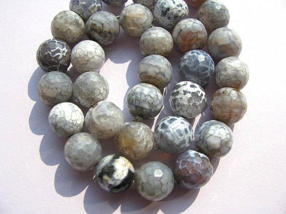 Hoge kwaliteit ronde bal facetroom wit blauw rood vuur agaat edelsteen kraal 16mm volledige strengen