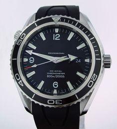 Wholesale Hand Watch Waterproof - Men's Black Dial Planet Ocean Watch Black Rubbe 45mm Auto Co Axial Dive Waterproof Watches