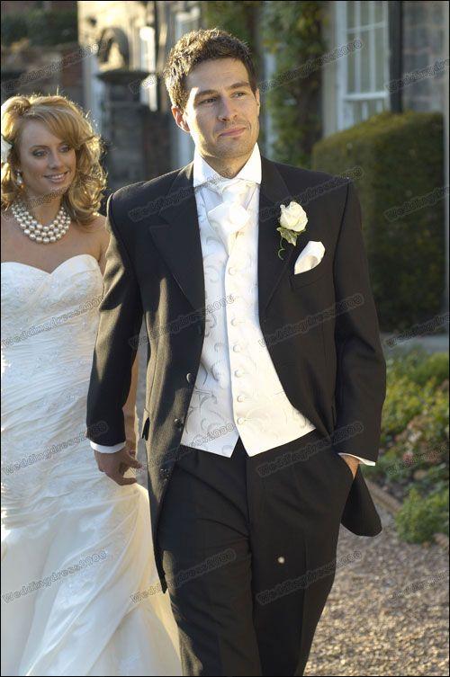 2016 New Black Long Wedding Suits Bridal Groom Suits Mens Suits ...