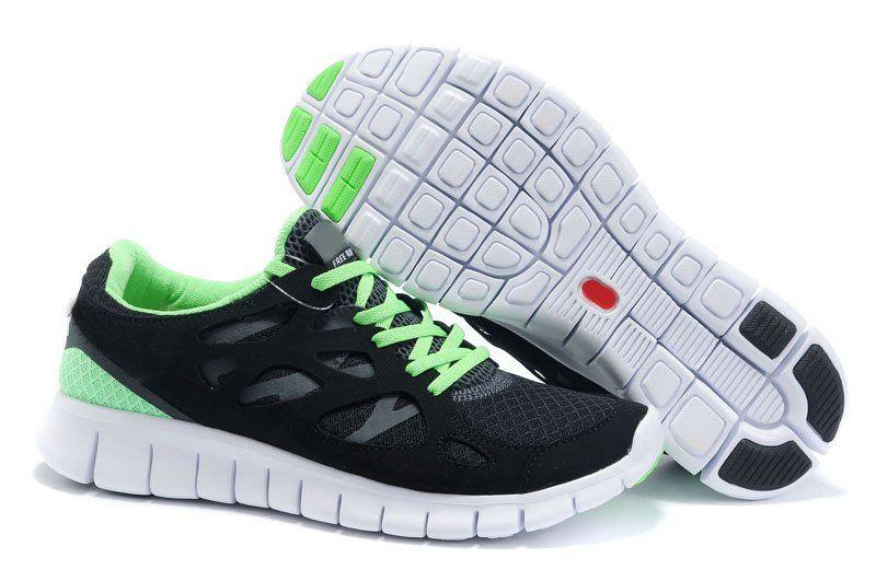 Nike Free Run 2.0 Mens Traje Blanco Y Negro