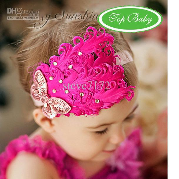 Feather Baby Headband Girls  Hairbands Hairpin Christmas Hair Tie Headbands  Hair Accessories Hair Accessories For Long Hair Elegant Hair Accessories  From ... 7d4441b6ec4