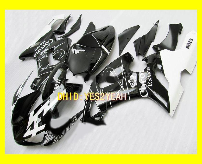Kit de cuerpo de carenado Para KAWASAKI Ninja ZX6R 05 06 ZX-6R 636 Carrocería ZX 6R 2005 2006 negro blanco Carenados + regalos KP22