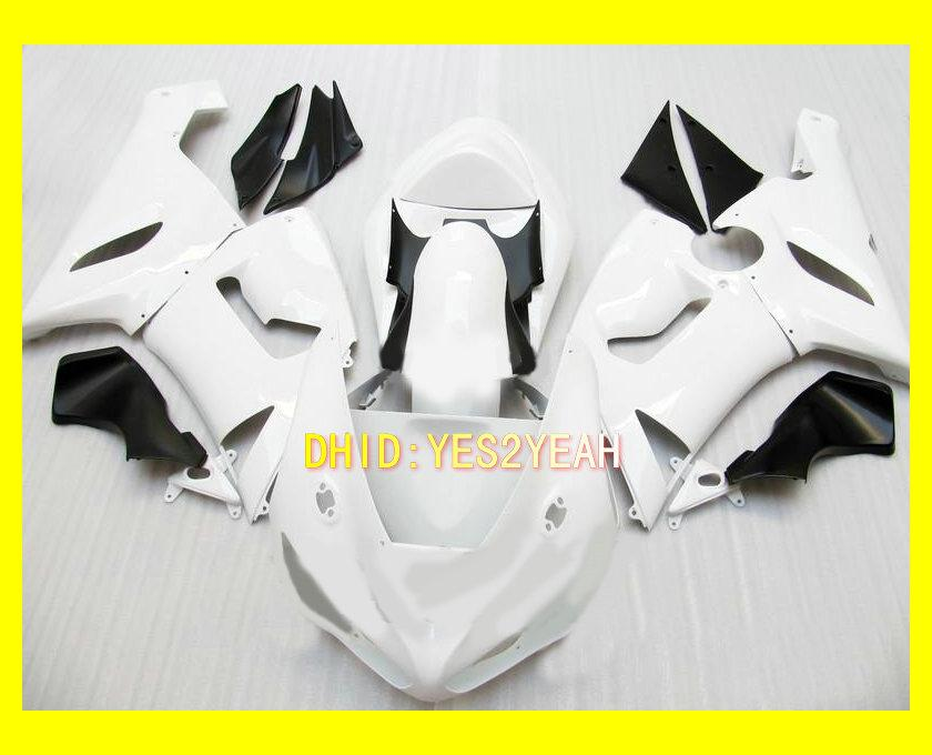 Kit carenagem corpo branco para KAWASAKI Ninja ZX6R 05 06 ZX-6R 636 Carroçaria ZX 6R 2005 2006 6R Motos Carimbos conjunto + presentes
