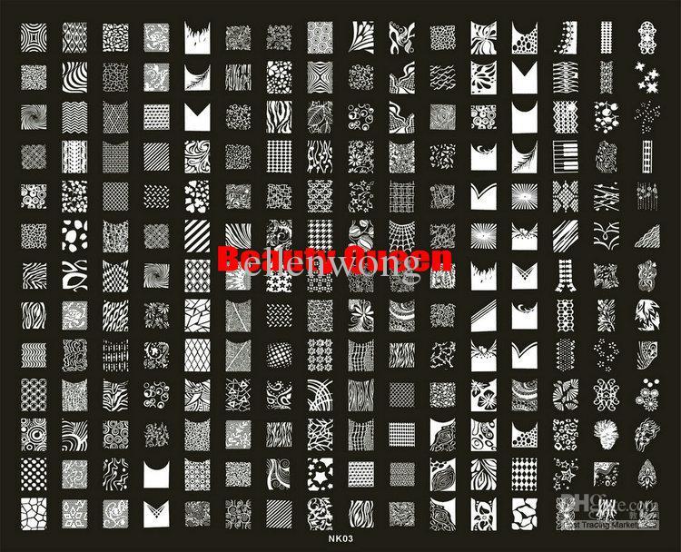 208 Tasarımlar XXL Büyük Damgalama Plakası Fransız Tam Desgin Çivi Sanatı Kond Görüntü Plaka Şablon Şablonu