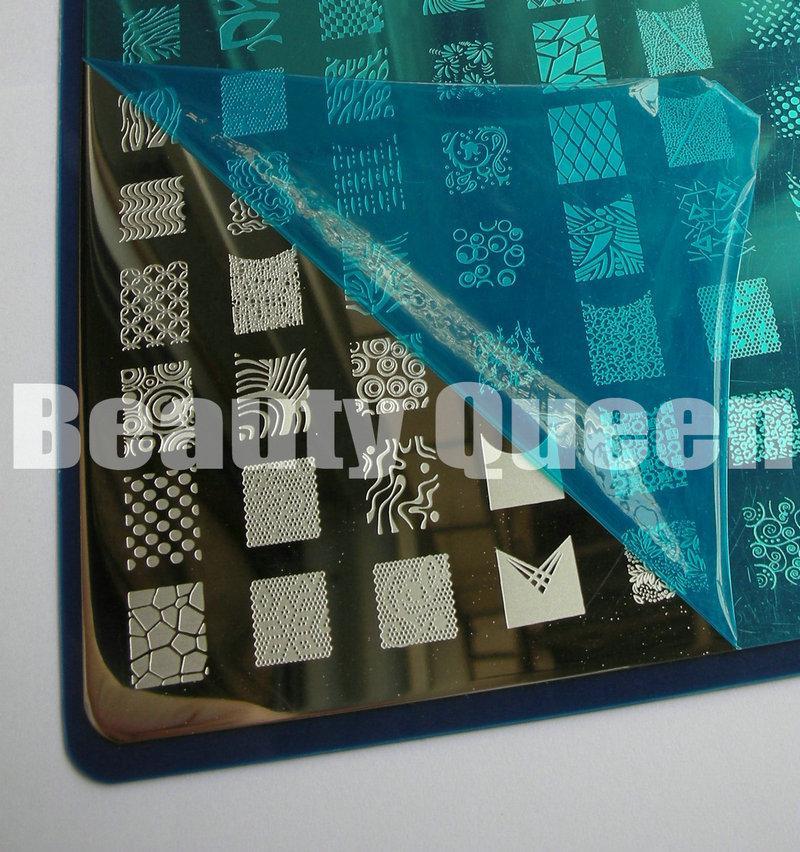 Os mais recentes 208 Projetos XXL GRANDE Stamping Plate Francês Completo Nail Art Imagem Placa Stencil Template Metal N3