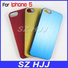 Wholesale Iphone5 Case Brushed Aluminum - Luxury Brushed Metal Aluminum Chrome Hard Case For iPhone 5 5G 5S New iPhone5 5S