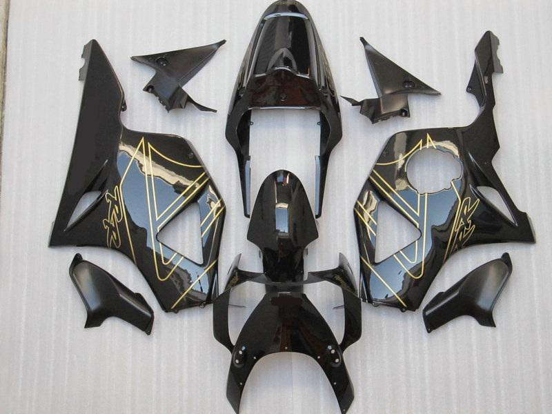 H9540 Black gold Fairings for Honda CBR900RR 954 CBR CBR954RR CBR954 2002 2003 02 03 fairing kit