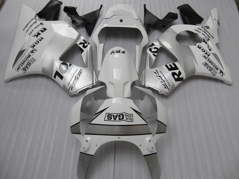 Honda 용 화이트 실버 렙솔 페어링 키트 CBR900RR 954 CBR CBR954RR CBR954 2002 2003 02 03 오토바이 페어링