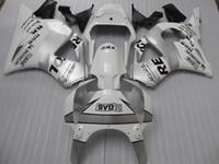ingrosso kit di compensazione bianco repsol-Kit carenature Repsol argento bianco per Honda CBR900RR 954 CBR CBR954RR CBR954 2002 2003 02 03 carenatura moto