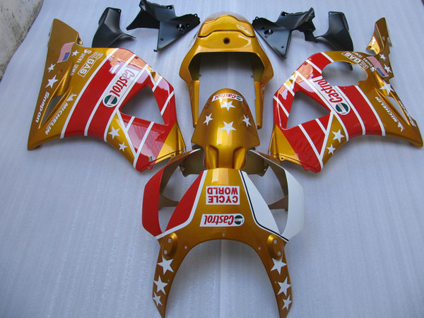 High quality Golden Fairings for Honda CBR900RR 954 CBR CBR954RR CBR954 2002 2003 02 03 road racing motorcycle fairing
