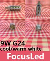 Wholesale G24 44 - 2013 Newest G24 9W 850 LM Led Corn Bulbs Lights Lamp 44 SMD5050 Cool Warm White Led Lights 230V