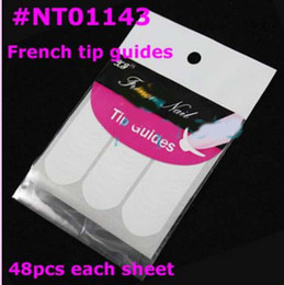 Wholesale N Nails - [AL012]10 Pcs Nail Art French Tip Guides Sticker C Style Guides Sticker DIY Stencil Retails #N