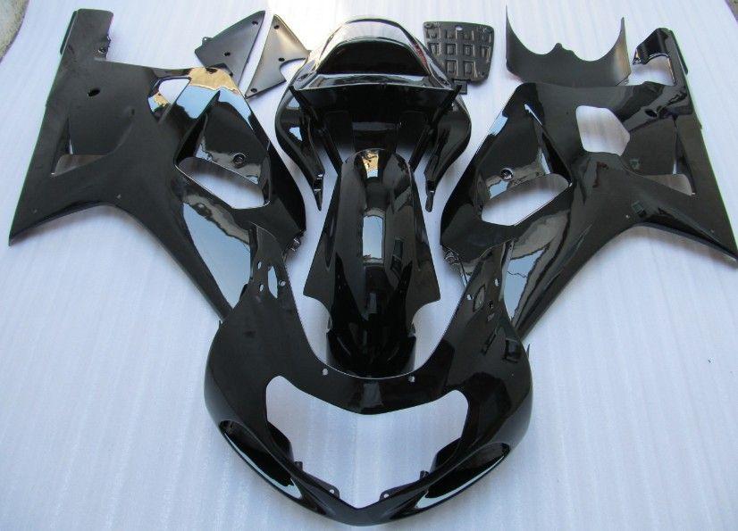스즈키 용 검은 색 ABS 페어링 키트 GSXR 600750 K1 2001 2002 2003 GSXR600 GSXR750 01 02 03