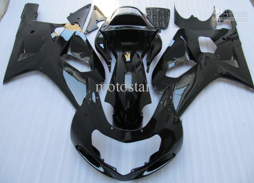 Black ABS Fairings Kit för Suzuki GSXR 600 750 K1 2001 2002 2003 GSXR600 GSXR750 01 02 03