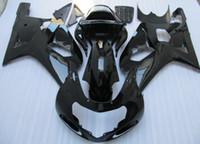 gsxr k1 verkleidungssatz großhandel-Schwarzer ABS Verkleidungssatz für Suzuki GSXR 600 750 K1 2001 2002 2003 GSXR600 GSXR750 01 02 03