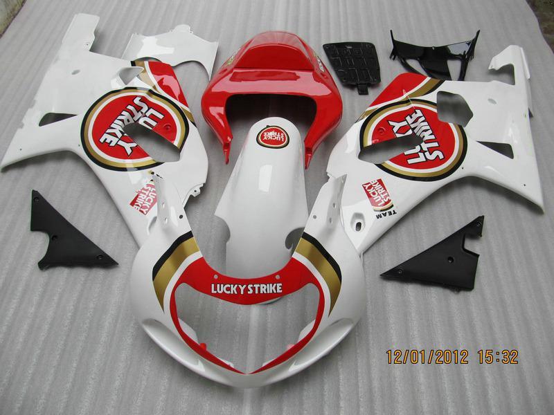 LUCK STRIKE Team Fairings for suzuki GSXR 600 750 K1 2001 2002 2003 GSXR600 GSXR750 01 02 03