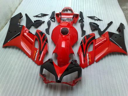 Röd / Svart karosseri för Honda Fairing Kits CBR1000RR CBR 1000RR 2004 2005 Högkvalitativ formsprutningsmissar