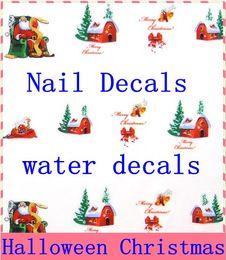 2019 art noix jaune rouge autocollants de l'eau, autocollant d'art de transfert de l'eau de clou, décalcomanies de l'eau, autocollants à la française de style
