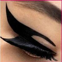 plantillas de pintura corporal kits de plantillas al por mayor-Wolesale-Free Shiping eyeliner cat wing delineador de ojos Tattoo Lady Gaga magic Eyeliner stickers