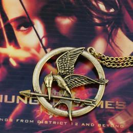Wholesale Mockingjay Hunger Games Pendant - Hot sale the hunger games pendant mockingjay and arrow necklace fashion jewelry free shipping