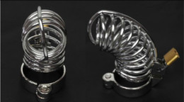 Wholesale Bdsm Bird Cage - The Bird Cage Male Steel Chastity Cock Cage with Ring & Padlock bdsm