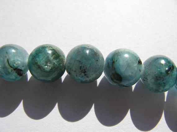 보석 원형 둥근 구슬 광택 청색 정품 kyanite gemsotne 느슨한 구슬 6mm 전체 가닥