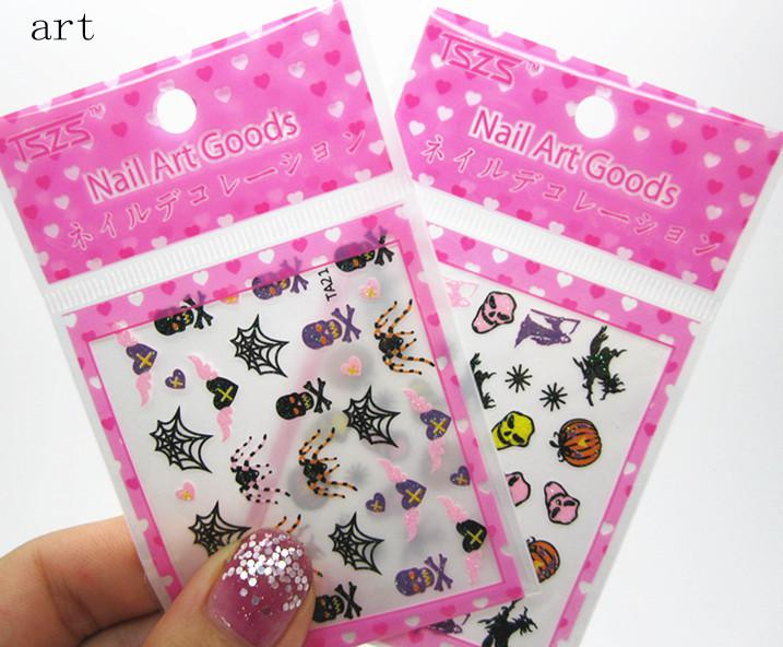 Halloween 3d nail art designs nail decals us wrap sticker halloween 3d nail art designs nail decals us wrap sticker decoration discount skull snowflake online prinsesfo Image collections