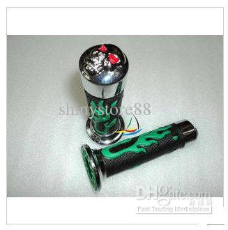 Universal Moto Motorcycle Chopper Handlebar Grips flame Hand Grips Rubber Y42010-C LG16 10pcs