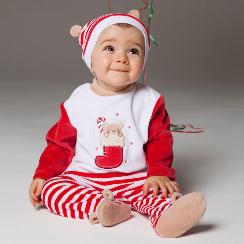 Online Cheap Christmas Baby Sets In 1 Striped Cap Infant Outfits ...