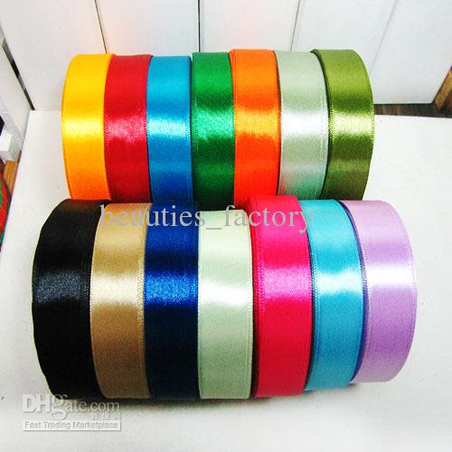 20mm Satin Ribbon 10 Rolls one roll 22m Gift Decoration Mix Color Ribbons