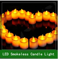 Wholesale Natural Led Candle - 24pcs LED Smokeless Flickering Battery Candles Tea Light Natural Color Flash