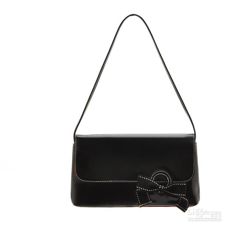 Vs297 Small Black Patent Leather Handbag Purse Evening Bag Very ...