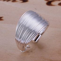 Wholesale Gift String Band - R018 Wholesale 925 Silver Open String Finger Rings Leading Lady New Fashion Jewelry Free Shipping