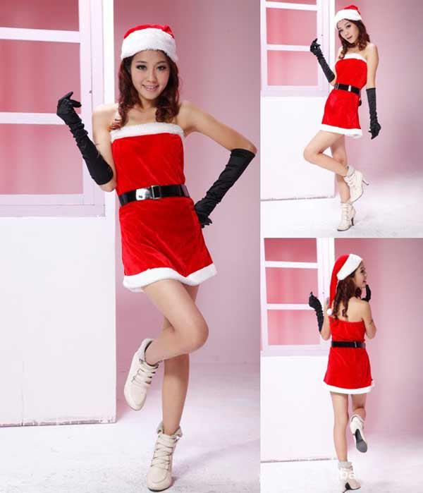 New Christmas Santa Dress Clothes Women Sexy Dresses Red Party ...