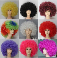Wholesale Sell Wigs Wholesale - hot selling Fans wig festival party wigs Afro style wigs multicolor 9 colors,wholesale 9pcs lot