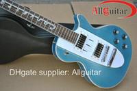 Wholesale Guitars Corvette - Custom Shop 1960 Corvette blue metallic music electric guitar China Guitar