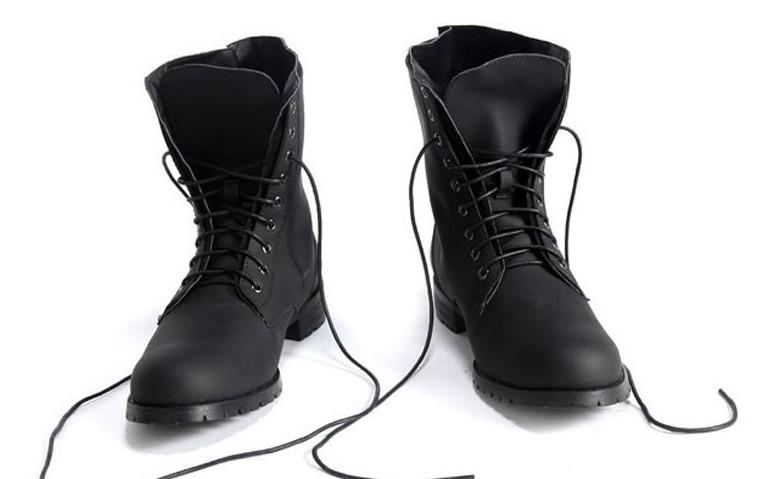New European And American Fashion Men's Leather Boots Men's Army ...