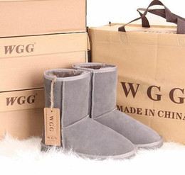 Wholesale Wide Heeled Boots - Quality Women Mid Snow Boots Genuine Leather Winter Boots Size 35 To Size 44