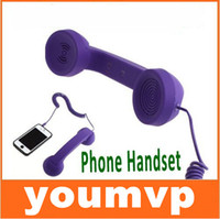 Wholesale Pop Handset - Mic Retro POP Phone Handset Telephone for mobilePhone receiver handsets