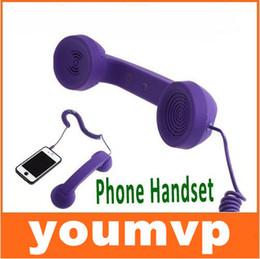 Wholesale Receiver Telephone - Mic Retro POP Phone Handset Telephone for mobilePhone receiver handsets