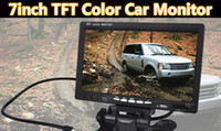 "Wholesale Car Dvd Monitors - New 7"" inch TFT LCD Color Car Rearview Headrest Monitor DVD VCR"