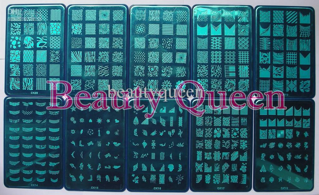 NEWEST! 328 BIG Designs XL Stamp Stamping Image Plate French Nail Art Stencil Print Template CK09-18