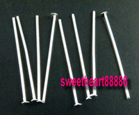 Wholesale pins needles head online - Silver Plated Head Smooth Pins Needles mm MIC Hot sell Jewelry Findings Components DIY
