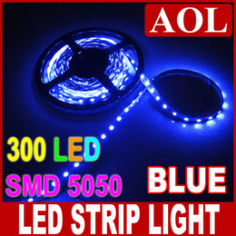 Wholesale Car Light Bar Flexible - Hot 5M 5050 SMD 300 LED Flexible Strip light non-waterproof LED Tape Strip Lighting blue for car bar house lighting