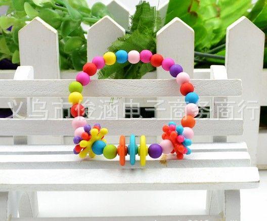 children kid Bauble jewelry set handmade necklace Bead Bracelet color pearl Snowflake Necklace Piece