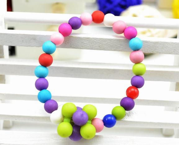 children kid Bauble jewelry set handmade necklace Bead Bracelet Bead flower necklace jewelry