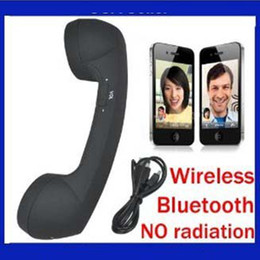 Wholesale Retro Handset Free Shipping - Free shipping new arrival wireless bluetooth retro handset for smartphones