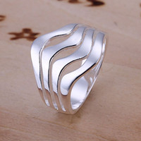 Wholesale China Designer Wholesale Free Shipping - R123 Wholesale 925 Silver Designer Finger Nail Ring For Women Fashion 2012 Jewelry Free Shipping