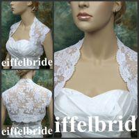 Wholesale Mini Jacket Wedding - White Lace Cap Sleeves Wedding Jacket Mini Hot Sale Cheap Bridal Jacket Free Shipping 2013