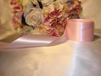 rollt rosa band großhandel-5 Rollen 50mm Farbe Rosa Satinband (eine Rolle 22m) Geschenk Hochzeitsdekoration oder Mischungsfarbe